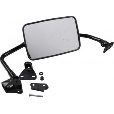 Mirror, truck style, convex, w/mounting kit, black, LH, 251 857 513F