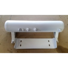 Propane tank with guard plate
