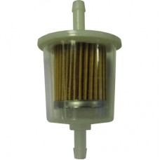 Fuel filter, tank to pump, small round, clear plastic, 23002